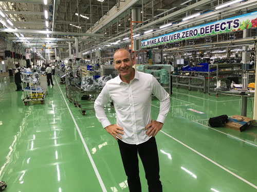 Paul Akers in Factory