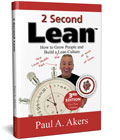 cover art for paul akers' 2 Second Lean book
