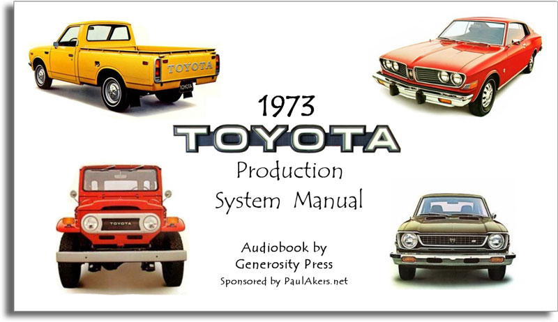 1973 Toyota Production System Manual